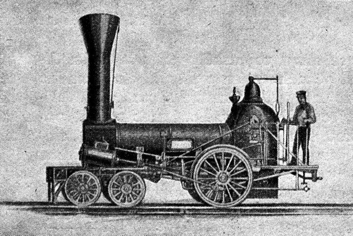 Výsledek obrázku pro parní lokomotiva 1840